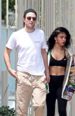FKA TWIGS and Robert Pattinson Leaves a Gym in Los Angeles 05/11/2015