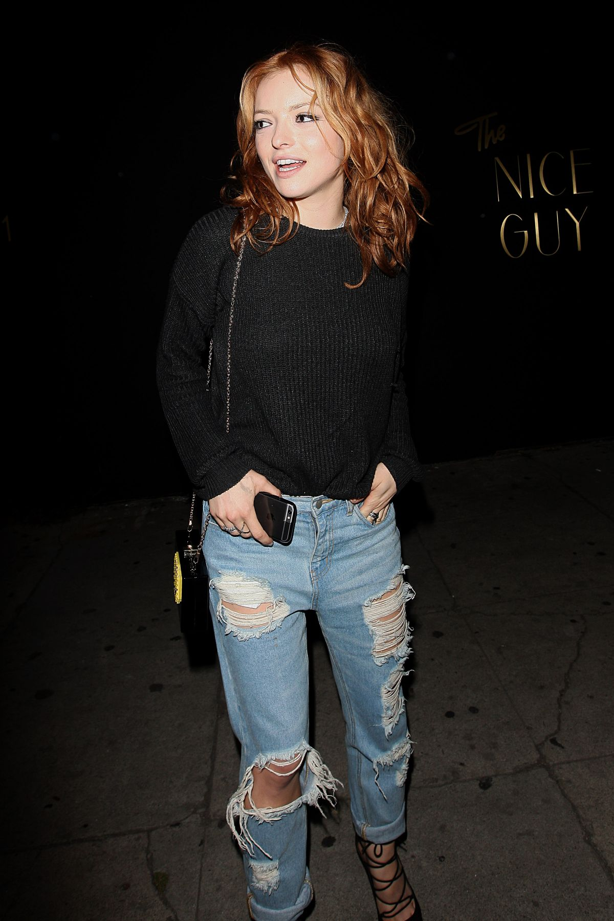 FRANCESCA EASTWOOD in Ripped Jeans Leaves Nice Guy - HawtCelebs