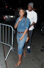 GABRIELLE UNION at 40/40 Bar in New York 05/02/2015