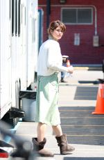 GEMMA ARTEE on the set of