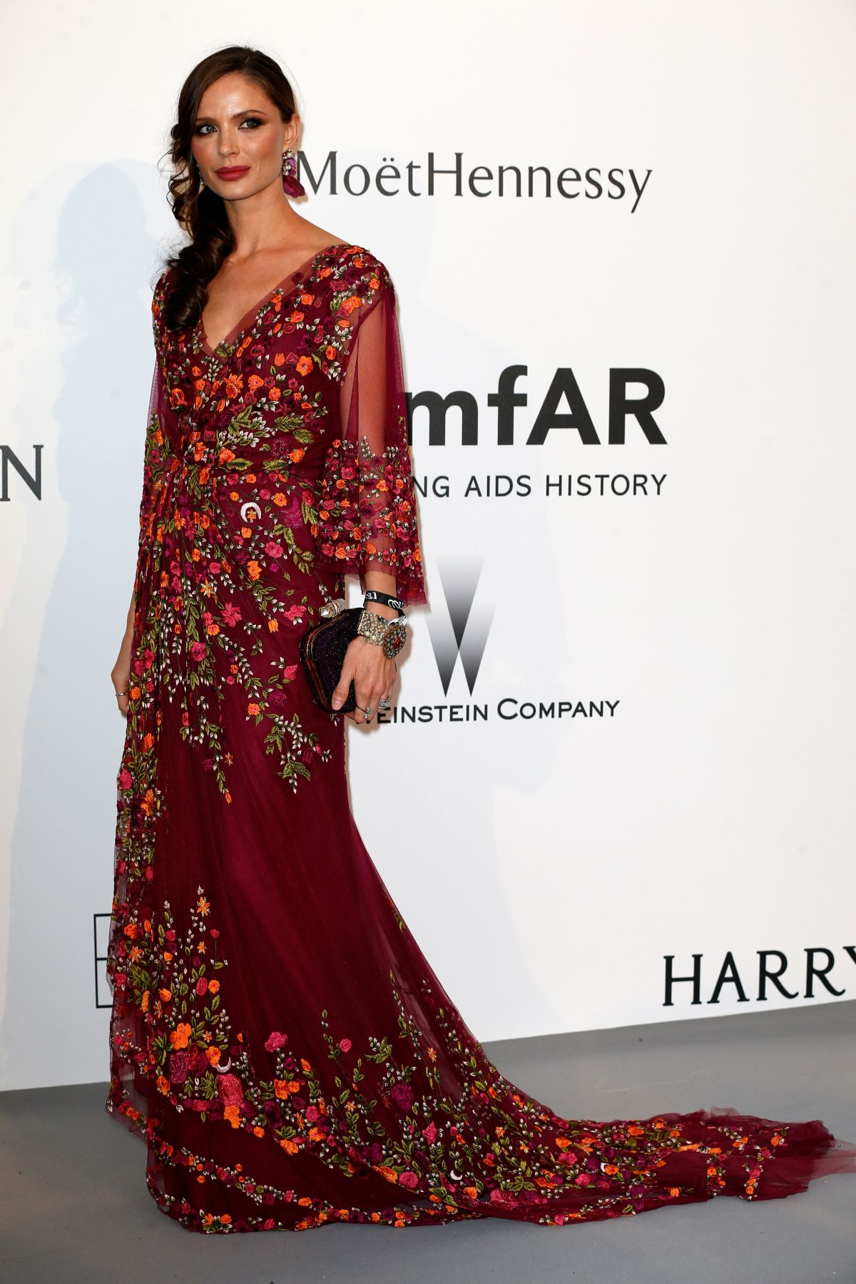 GEORGINA CHAPMAN at Amfar's 2015 Cinema Against Aids Gala in Cap d'Antibes