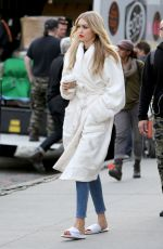 GIG HADID on the Set of a Photoshoot in New York 04/30/2015