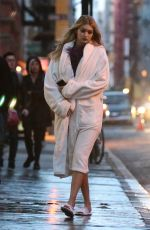 GIGI HADID at a Photoshoot in New York 05/02/2015