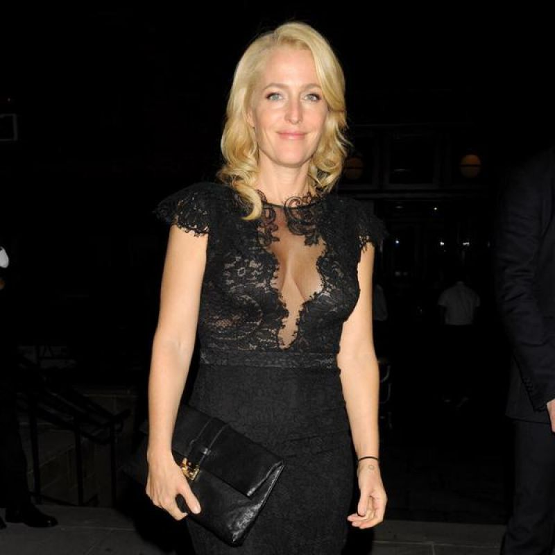 GILLIAN ANDERSON at Entertainment Weekly and People Magazine Party in New York
