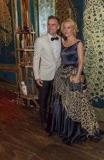 GILLIAN ANDERSON at Filthy Lucre Peacock Feather Gala