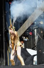 GINA GLEASON Performs at Rock in Rio USA 2015 in Las Vegas