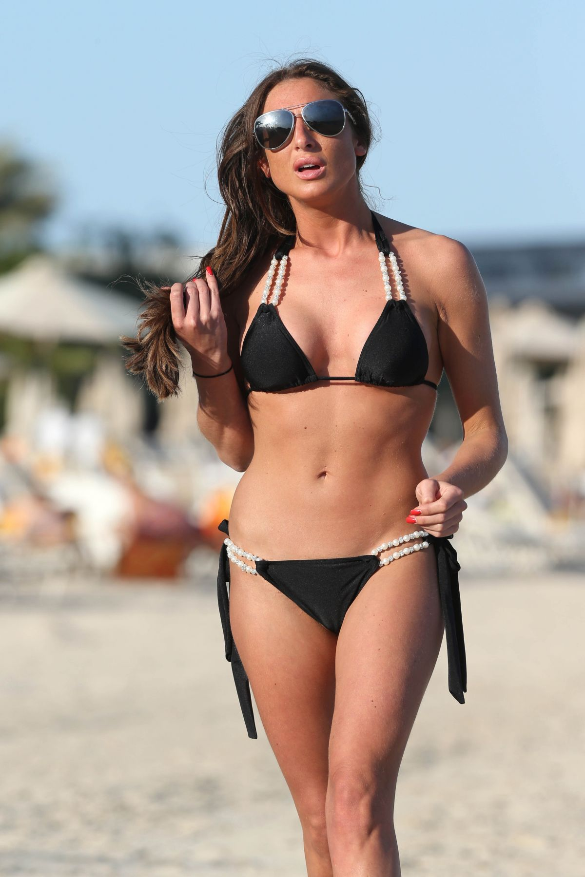GRACE ANDREWS in Bikini at a Beach in Dubai
