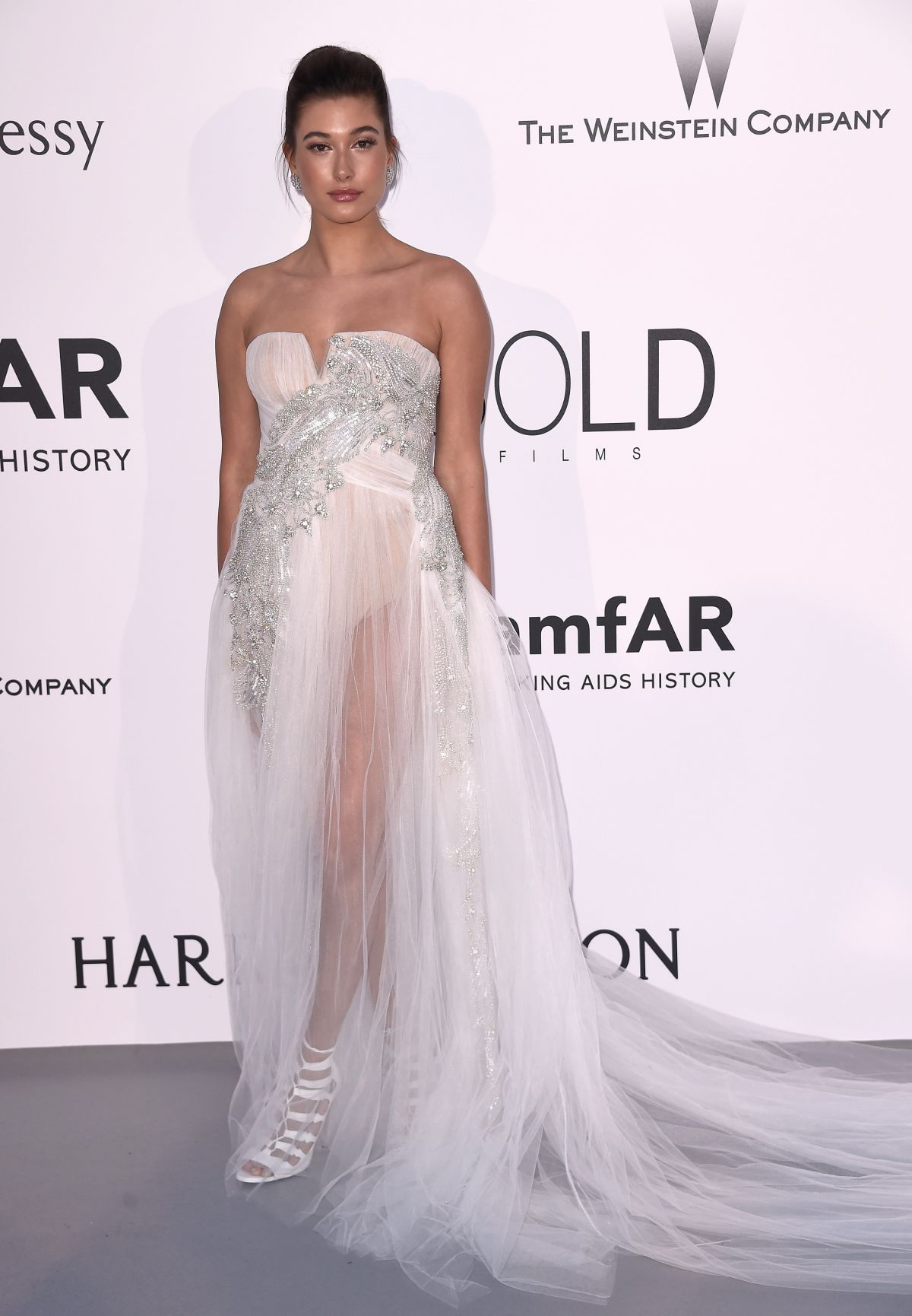 HAILEY BALDWIN at Amfar's 2015 Cinema Against Aids Gala in Cap d'Antibes