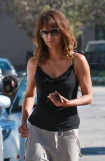HALLE BERRY Arrives at Kinara Skin Care Clinic & Spa in West Hollywood 04/30/2015