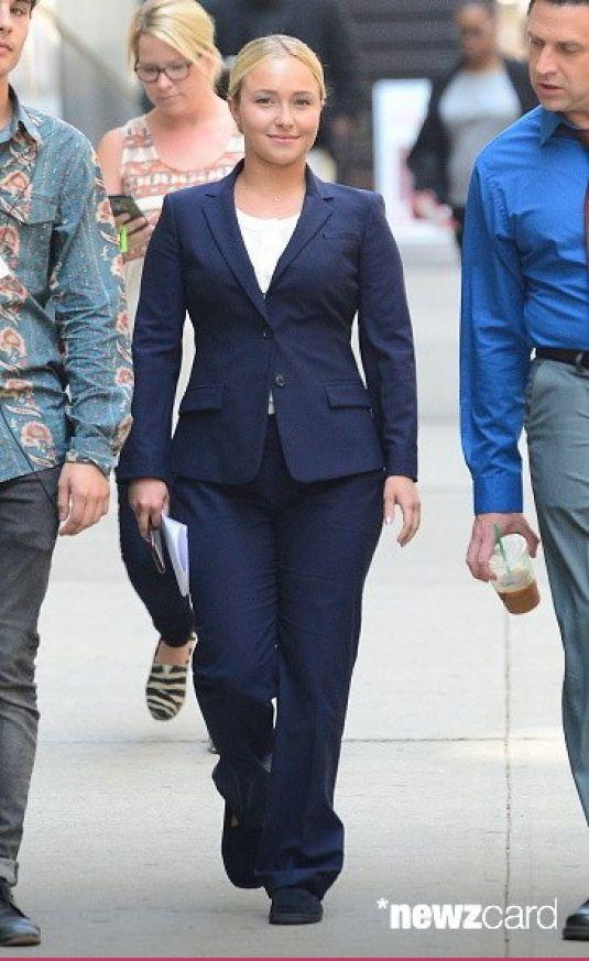 HAYDEN PANETTIERE on the Set of Custody in New York