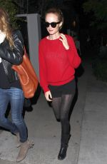 HEATHER GRAHAM at Gracias Madre Restaurant in West Hollywood 05/16/2015