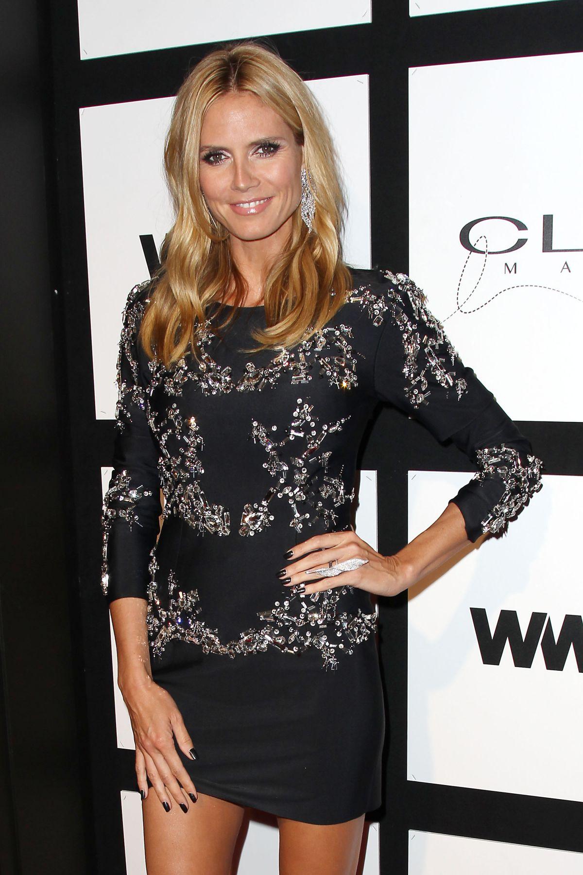HEIDI KLUM at 2015 Clio Awards in New York