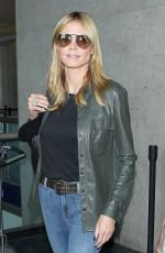 HEIDI KLUM in Jeans at LAX Airport in Los Angeles 05/25/2015