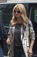 HEIDI KLUM Out and About in Berlin 15/05/2015
