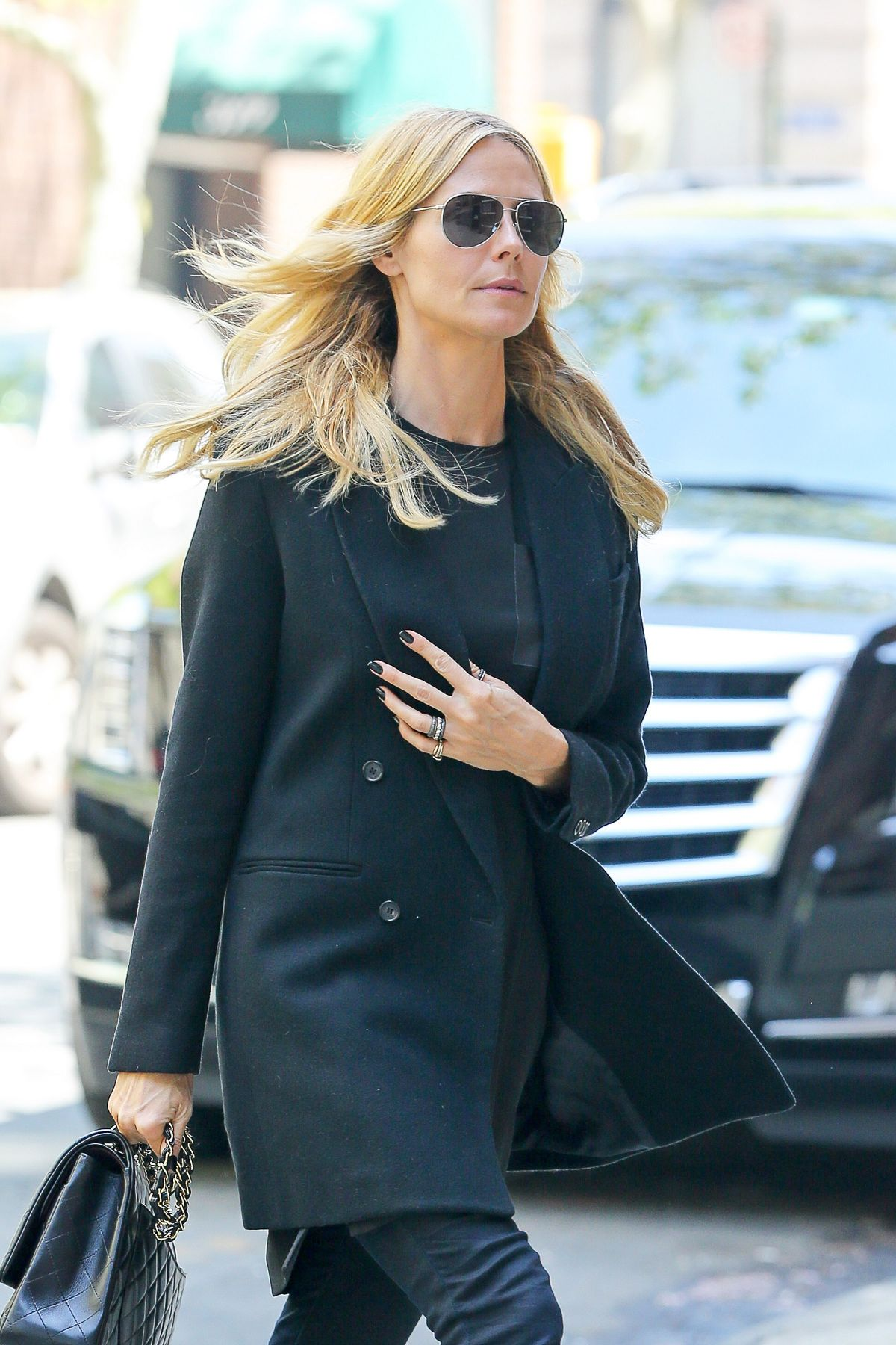 HEIDI KLUM Out and About in New York 05/08/2015