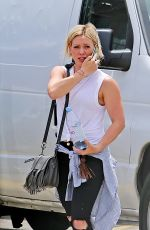 HILARY DUFF Arrives at a Studio in Hollywood 05/11/2015