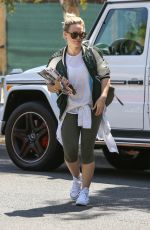 HILARY DUFF Arrives to a Friend in Los Angeles 05/30/2015