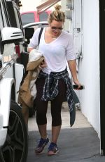 HILARY DUFF Heading to a Gym on West Hollywwod 05/30/2015