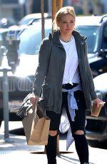 HILARY DUFF Leaves Cafe Zinque in Los Angeles