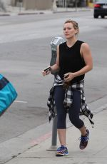HILARY DUFF Out and About in Los Angeles 05/24/2015