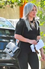HILARY DUFF Out and About in West Hollywood 05/01/2015