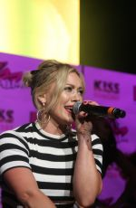 HILARY DUFF Performs at Kiss 108 Presents Kiss Concert 2015 in Mansfield