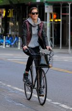 HILARY RHODA Riding a Bike Out in New York 05/26/2015