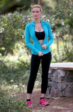 HOLLY MADISON Working Out at a Park in Las Vegas