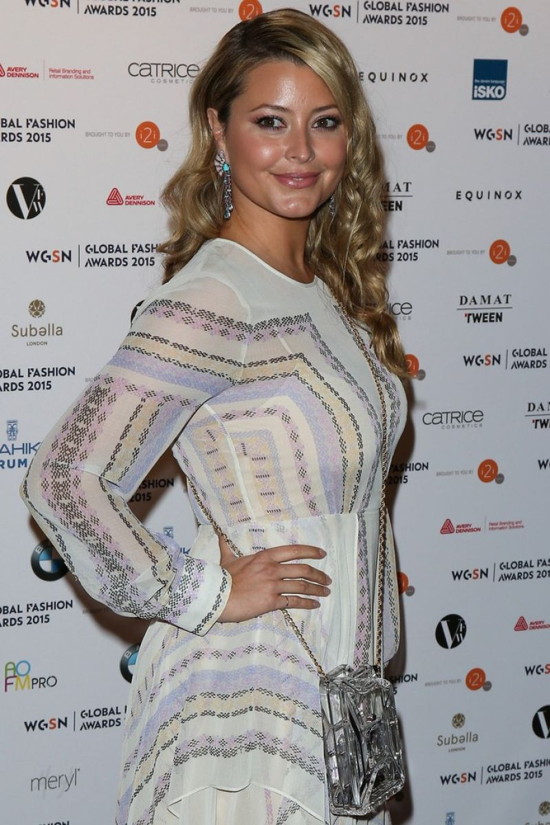 HOLLY VALANCE at WGSN Global Fashion Awards in London