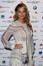 HOLLY VALANCE at WGSN Global Fashion Awards in London