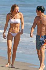 BELLA THORNE in White Bikini at a Beach