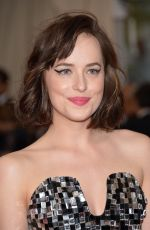 DAKOTA JOHNSON at MET Gala 2015 in New York