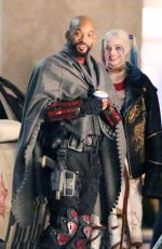 MARGOT ROBBIE on the Set of Suicide Squad 05/10/2015