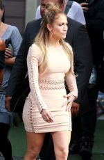 JENNIFER LOPEZ Arrives at American Idol Studio in Hollywood 05/06/2015