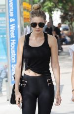 GIGI HADID in Tights Out in New York 05/28/2015