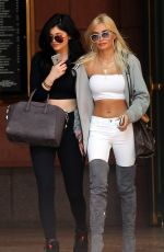 KYLIE JENNER and PIA MIA PEREZ Out and About in West Hollywood 05/28/2015