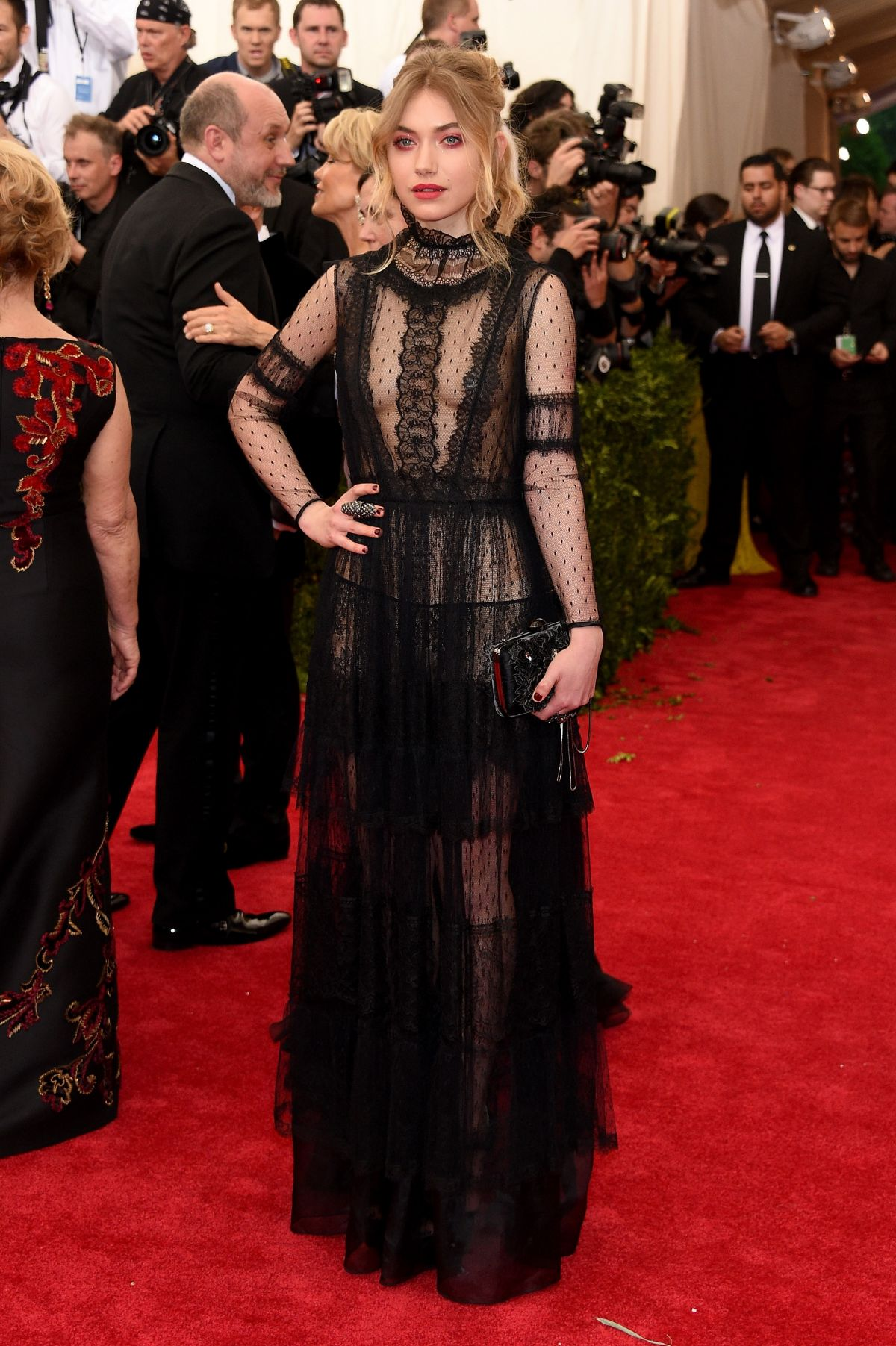 IMOGEN POOTS at MET Gala 2015 in New York