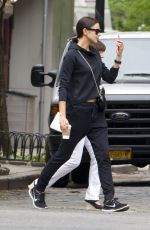 IRINA SHAYK Out and About in New York 05/14/2015