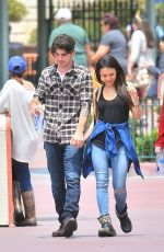 JANEL PARRISH at Disneyland in Anaheim 05/17/2015