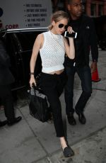JENNIFER LAWRENCE Arrives at Her Hotel in New York 05/01/2015