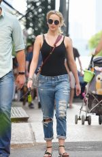 JENNIFER LAWRENCE in Ripped Jeans Out and About in New York 05/25/2015