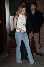 JENNIFER LAWRENCE Leaves Her Hotel in New York 05/01/2015