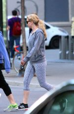 JENNIFER LAWRENCE Walks Her Dog Out in Montreal 05/51/2015