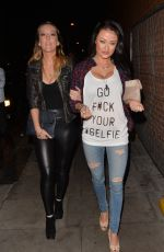 JESS IMPIAZZI Arrives at Inferno Club in London 05/08/2015