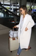 JESSICA ALBA Arrives at LAX Airport in Los Angeles 05/05/2015
