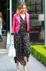 JESSICA ALBA at Melrose Gallery Furniture Showroom in West Hollywood