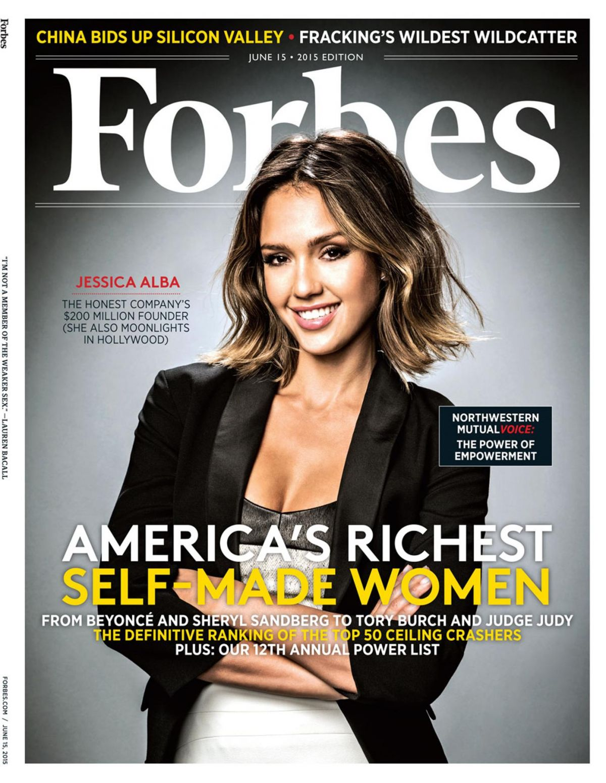 JESSICA ALBA in Forbes Magazine, June 2015 Issue