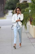 JESSICA ALBA Out in Santa Monica