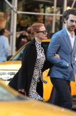 JESSICA CHASTAIN and Gian Luca Passi De Preposulo Out and About in New York 05/02/2015