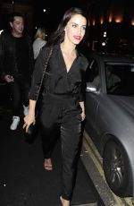 JESSICA LOWNDES Arrives at Mahiki Nightclub in London 05/24/2015